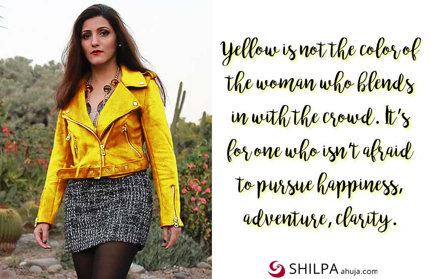 instagram captions yellow-dress-quotes-shilpa ahuja