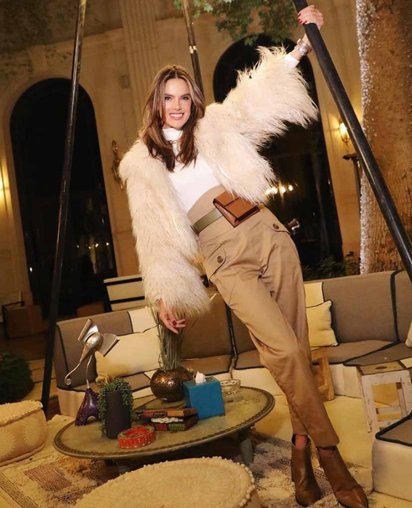 Alessandra Ambrosio ready to storm MDL event in her furs, via @alessandraambrosio