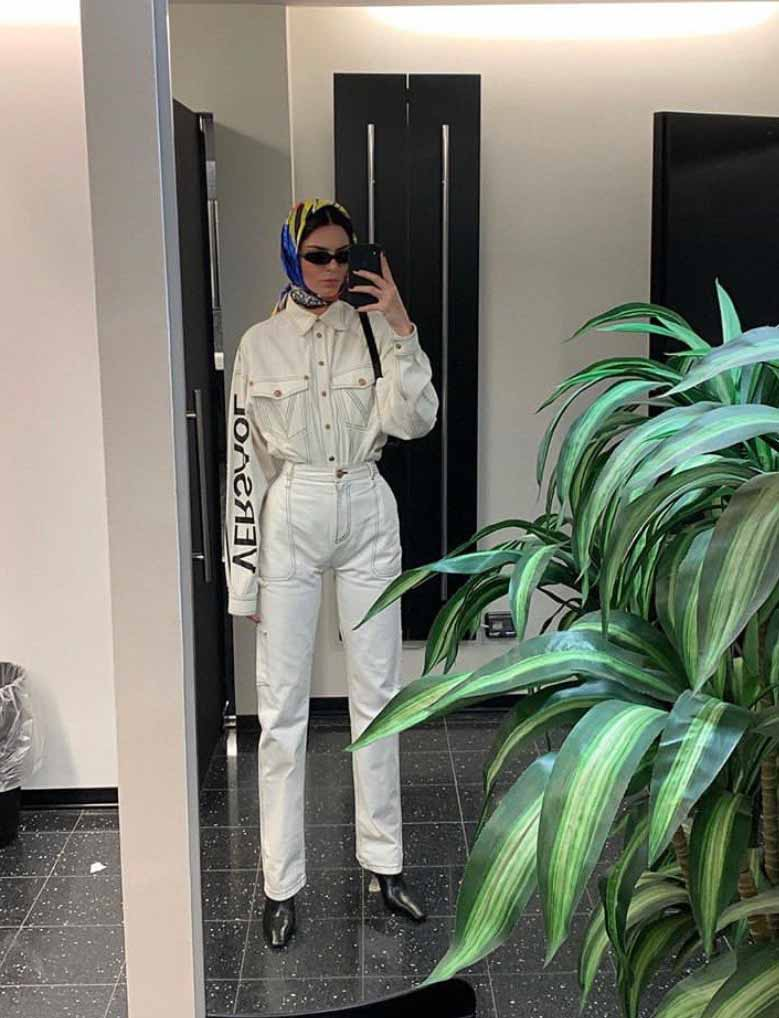 Kendall Jenner in all white for a day out, via @kendalljenner