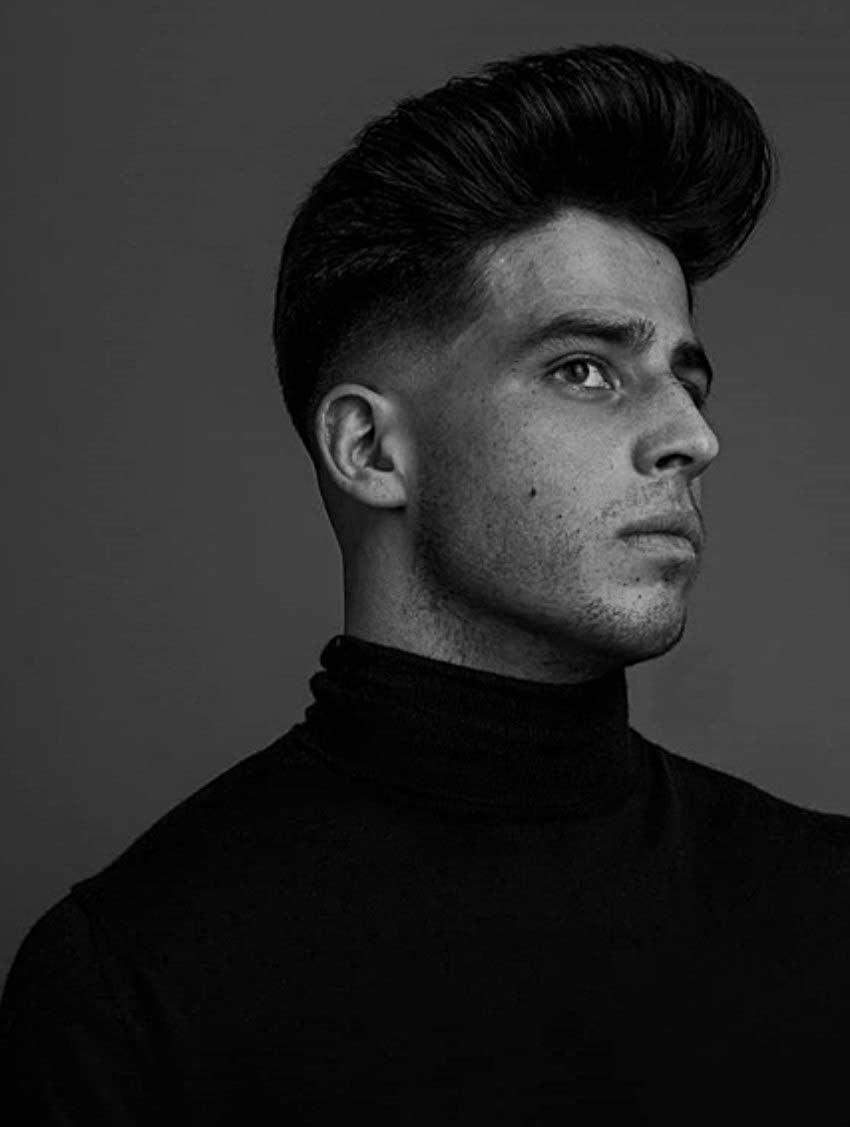 modern pompadour haircut for men's inspiration