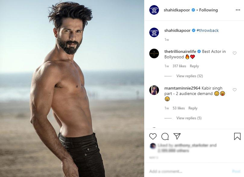 stylish bollywood actors-shahid kapoor-instagram