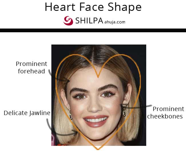 Lucy Hale flattering heart facial features