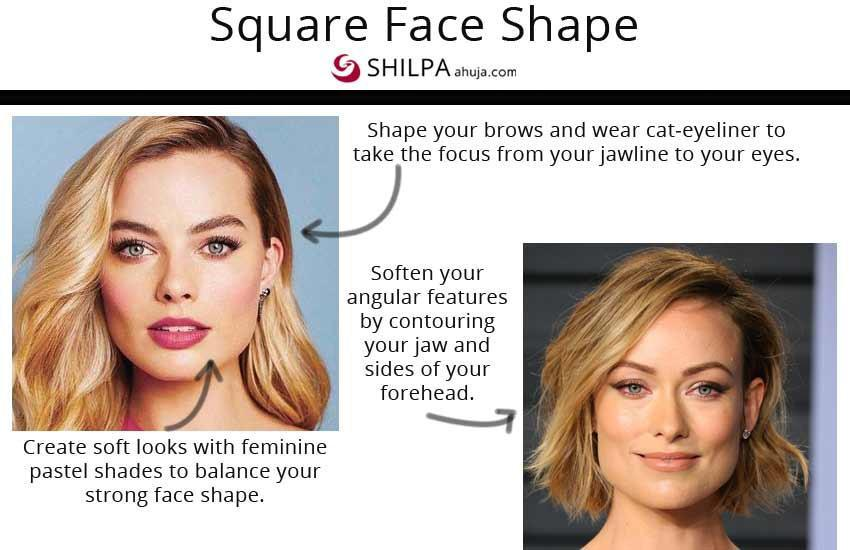 how to do makeup for square face shape