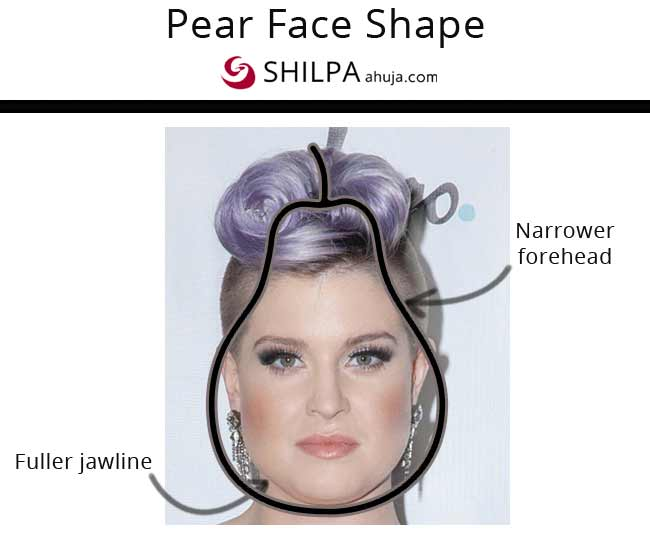 Kelly Osbourne flattering pear shaped face