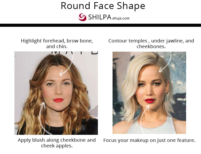 makeup on the go for round face shape