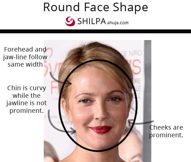 Drew Barrymore types of face shapes female