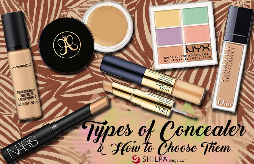 different types of concealers and how to select them