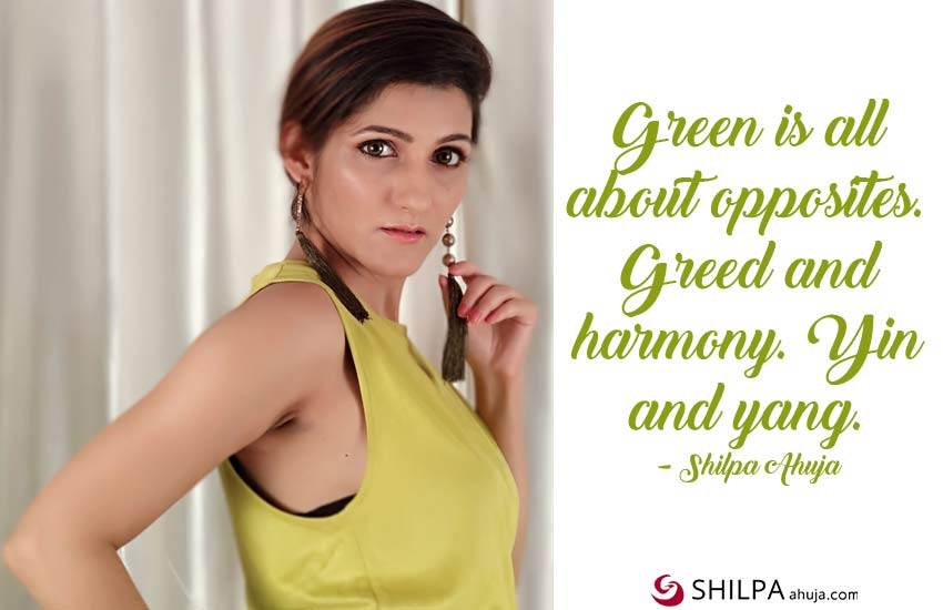 green-dress-quotes-for-instagram-attitude shilpa ahuja