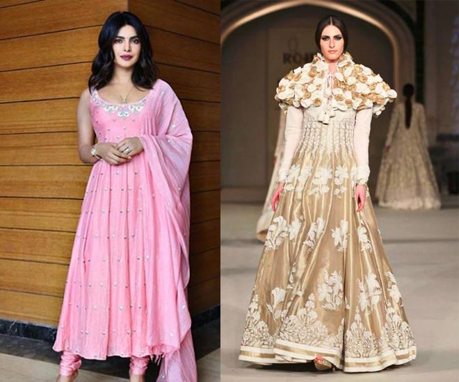 types of indian wear-anarkali