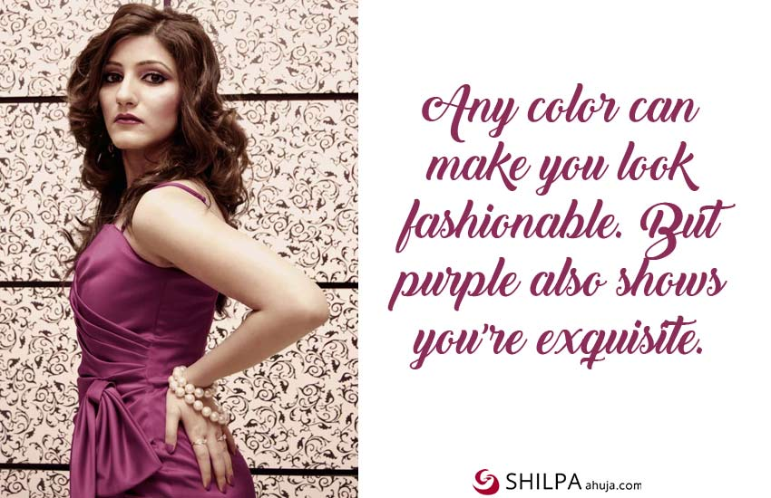 purple dress-quotes-for-instagram-fashion style shilpa ahuja