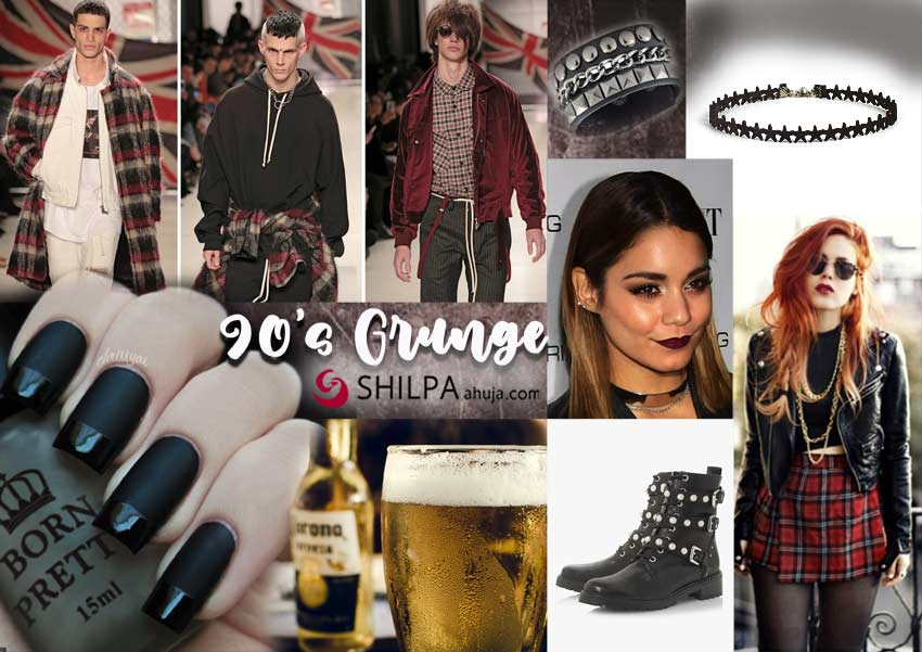 90s-grunge-youth-classy party themes-dress-makeup-ideas