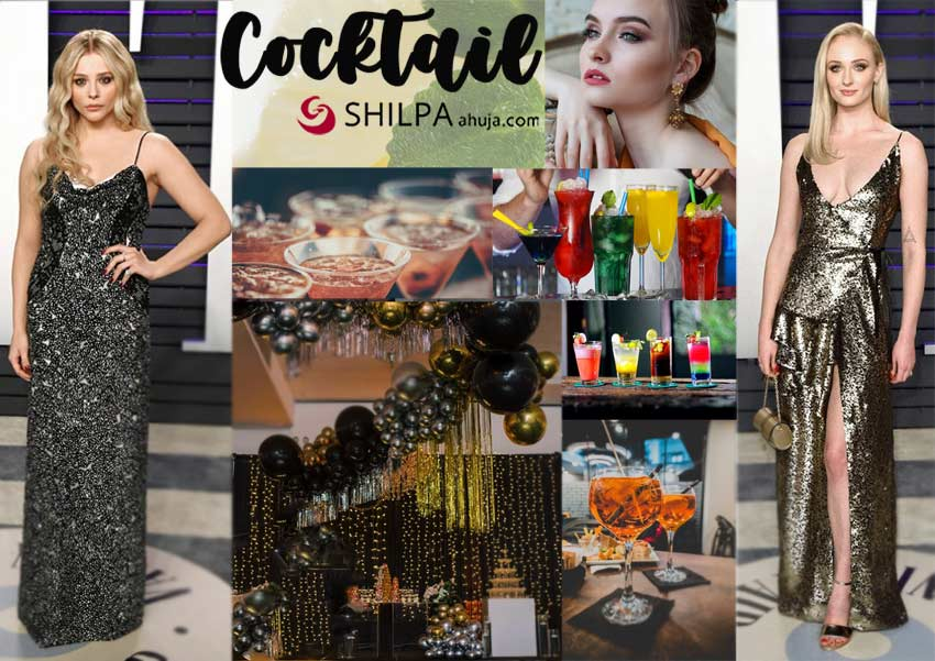 cocktail-classy party themes-sophie-turner-dressup-cocktails-and-decor-ideas