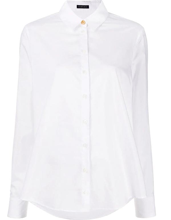 crisp-button-up -white-shirt