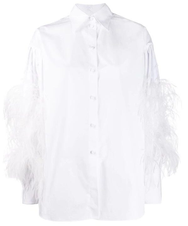 feather-embellished-buttoned-white-fancy-shirt