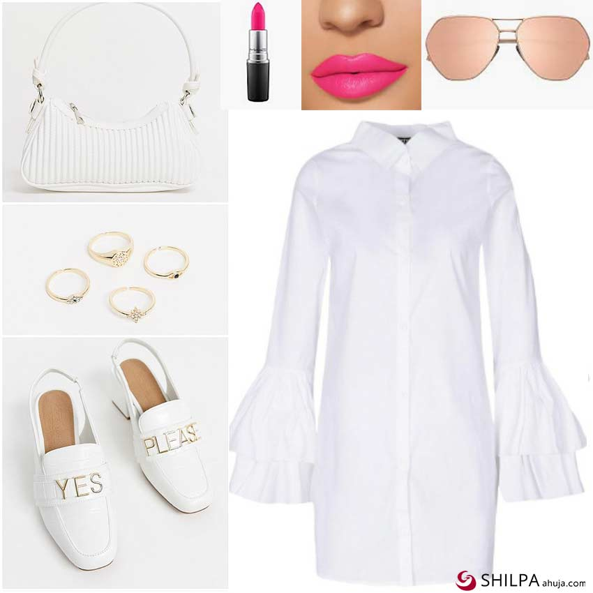 how-to-style-a-white-shirt-dress