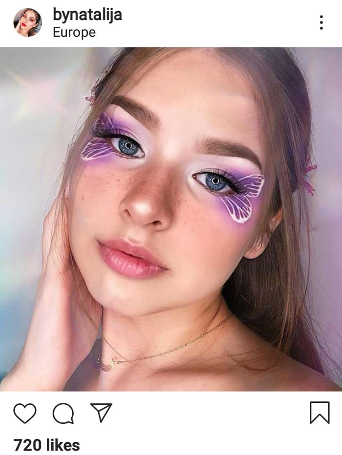 butterfly makeup creative eye makeup look