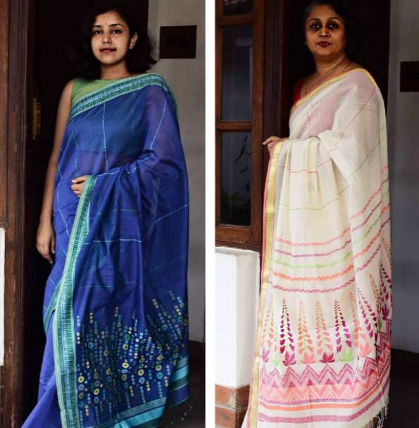 Ethicus cotton handcrafted sarees sustainable fashion
