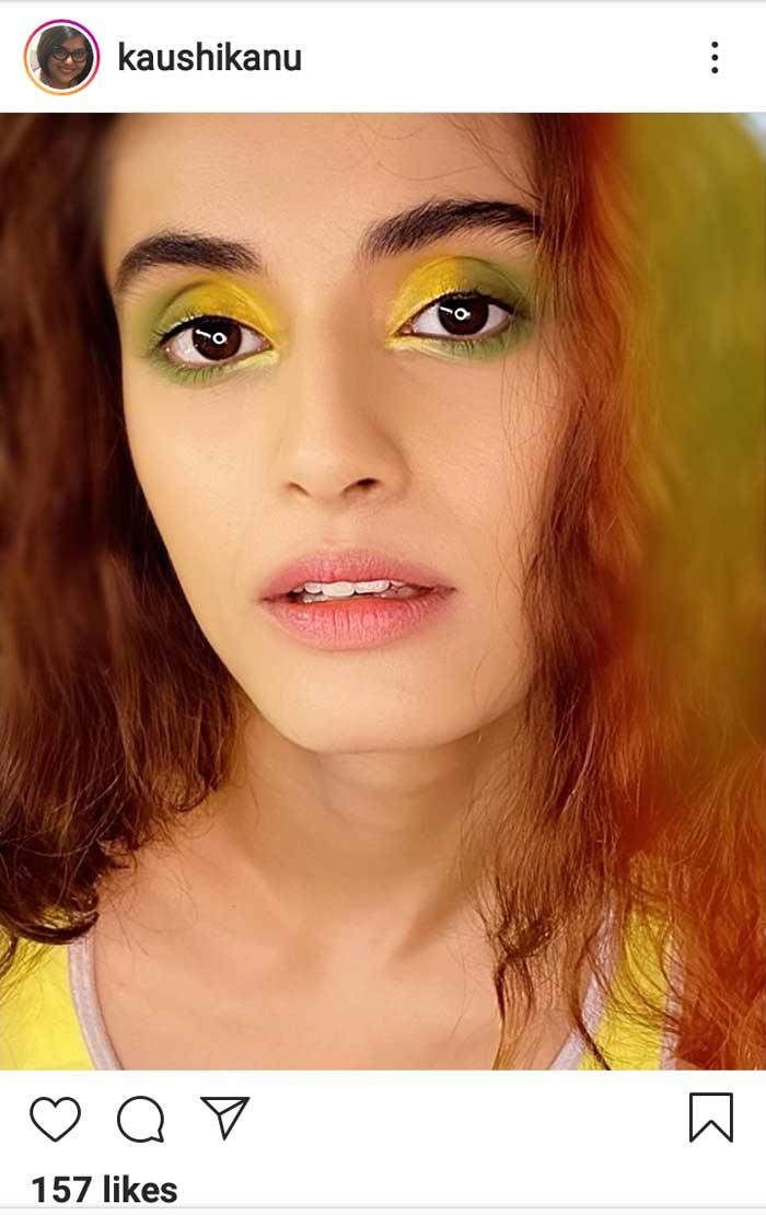 lemony eye fun makeup look