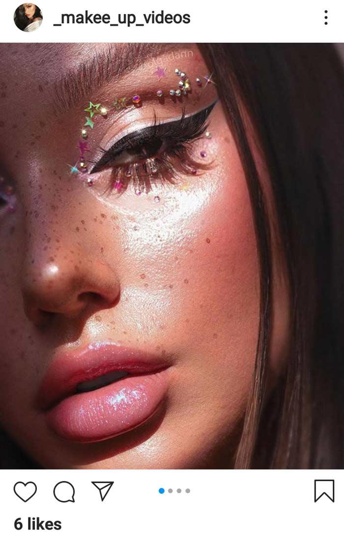 stone winged creative eye makeup look