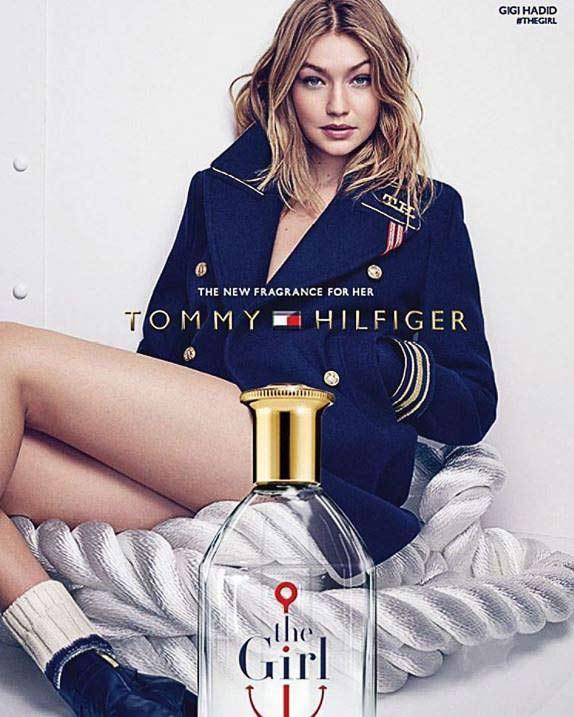 supermodel gigi hadid tommy hilfiger perfume brand campaign 2016