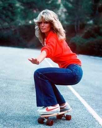 70s fashion icon farrah fawcett bell bottoms platform shoes nike