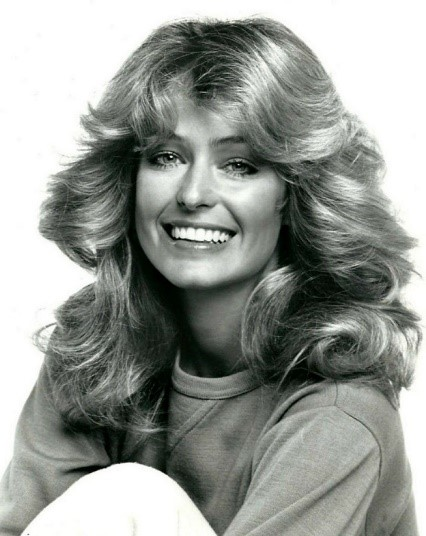 70s hairstyle trends Farrah Fawcett signature fringe charlies angels