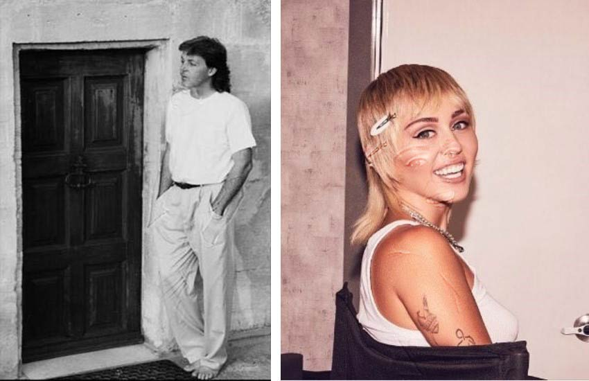 70s hairstyle trends Paul McCartney Miley Cyrus mullets