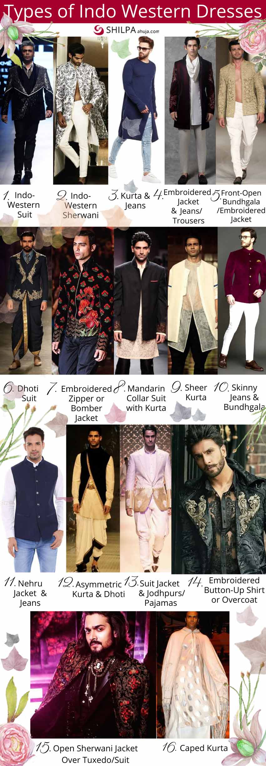 Types-of-Indo-western-dresses-for-men-groom wedding sherwani