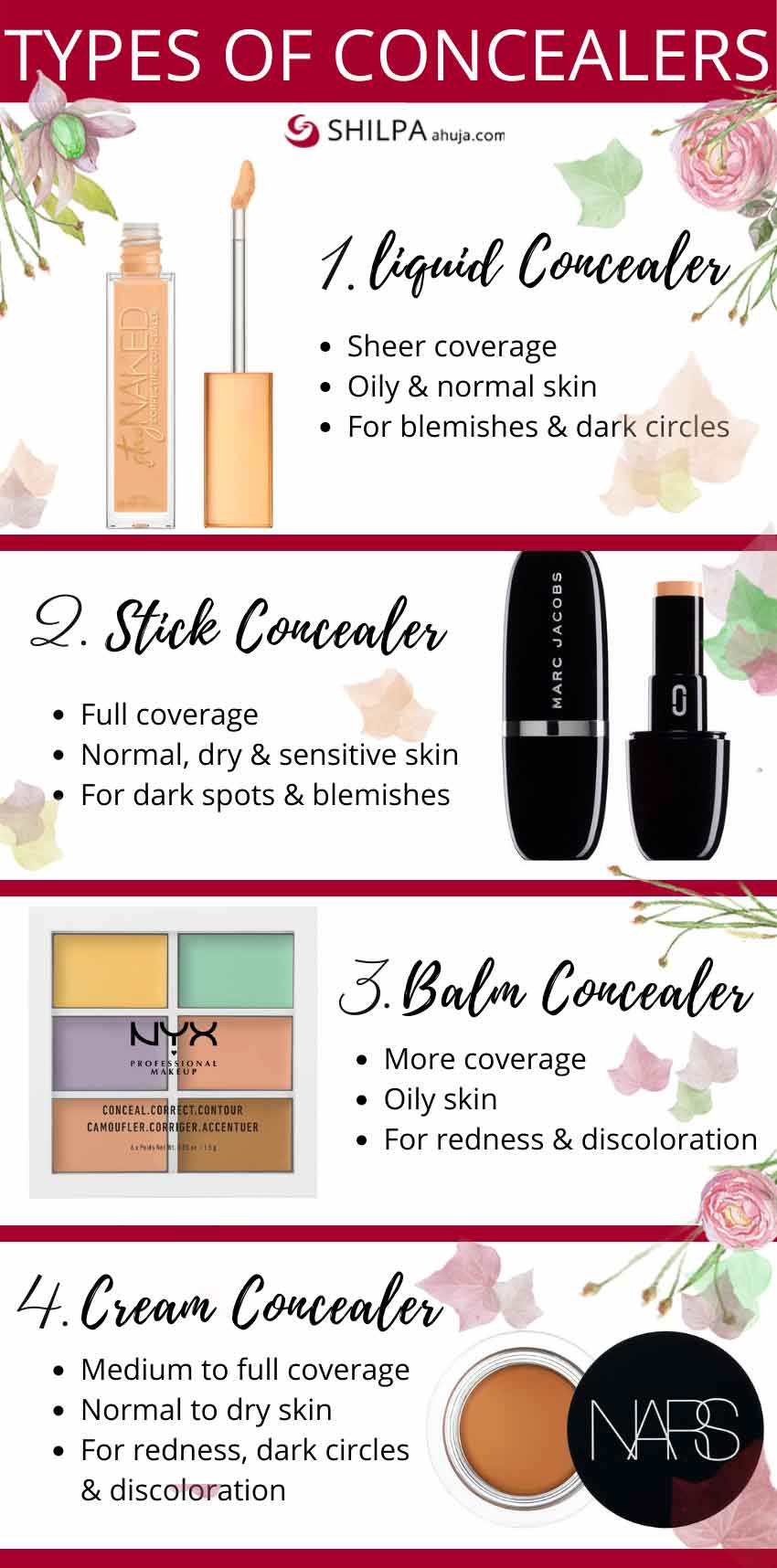 Types-of-concealers-makeup-products-how-to-choose
