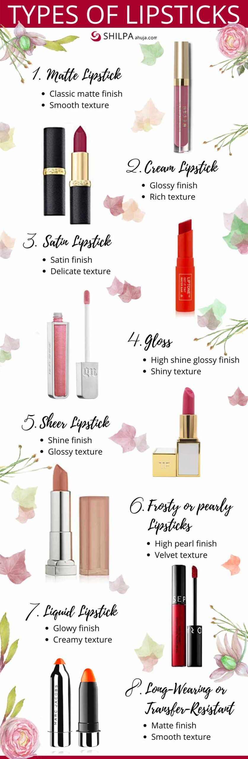 different Types of lipsticks uses how to choose