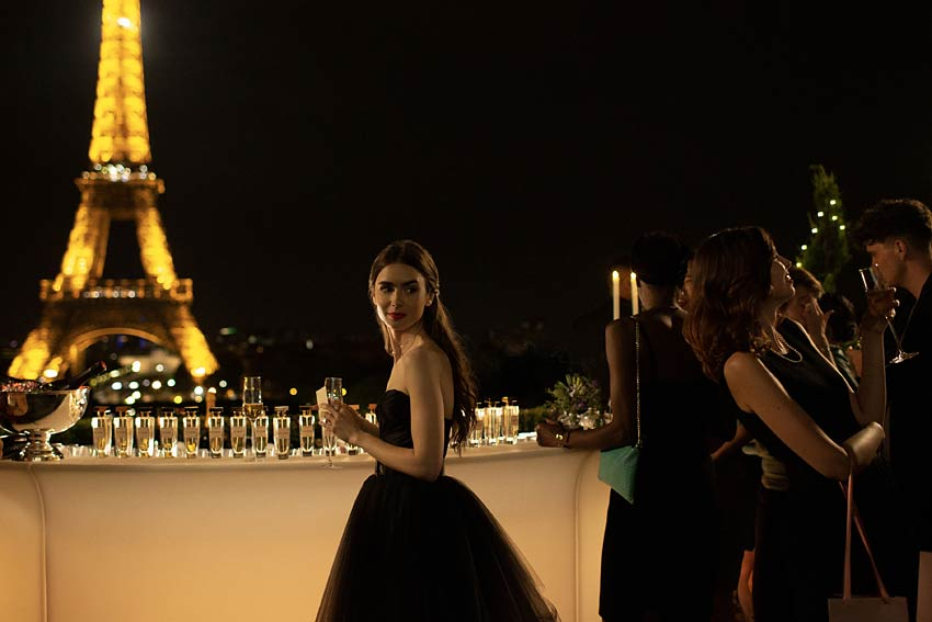 emily-in-paris-netflix-tv-show-lily-collins-black-gown