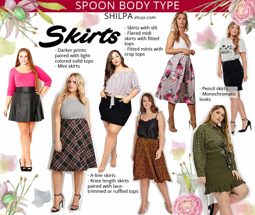 how to dress for spoon-body-shape-skirts