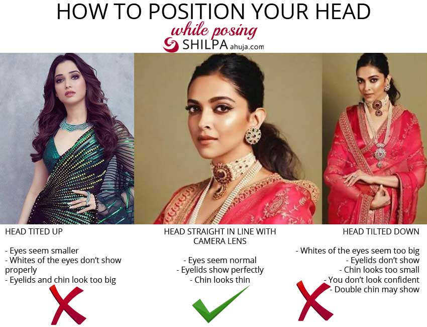 how-to-position-your-head-saree-posing-tips