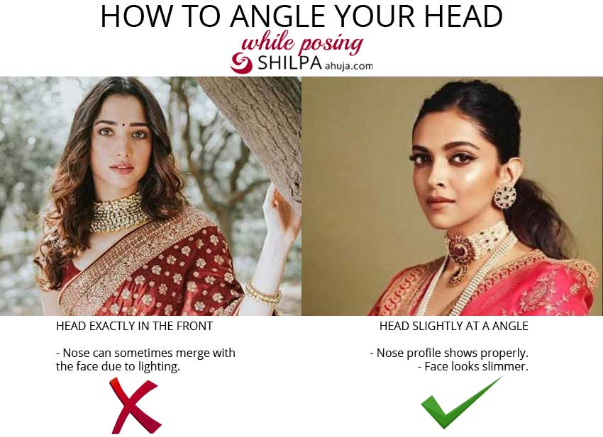 saree-posing-tips how-to-angle-your-head