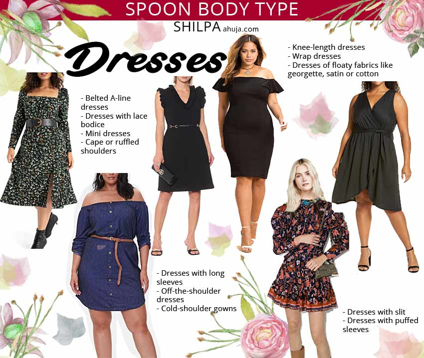 spoon body shape dresses
