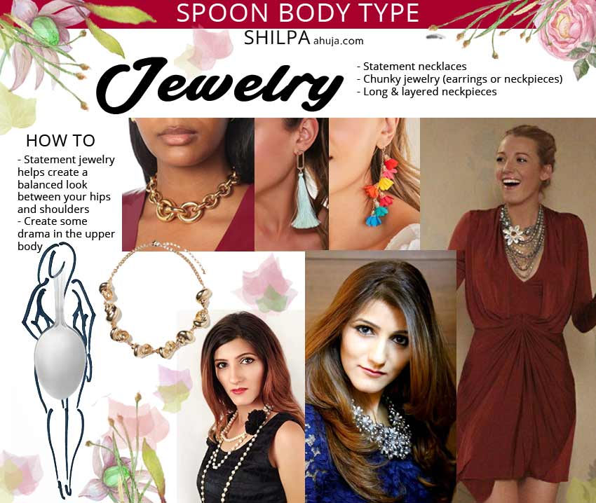spoon body shape jewelry