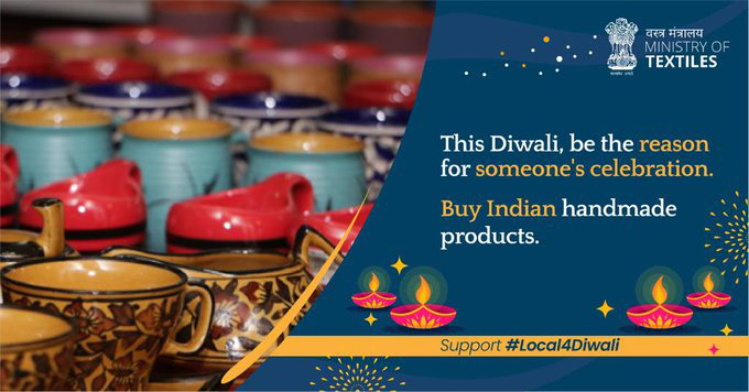ministry of textile #vocal4local this diwali
