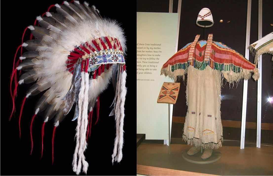 traditional native-american fashion headpieces tunics