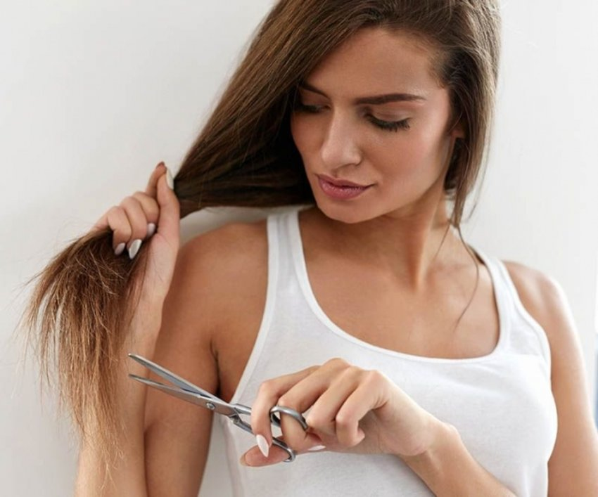 trim-hair-to-get-rid-of-split-ends