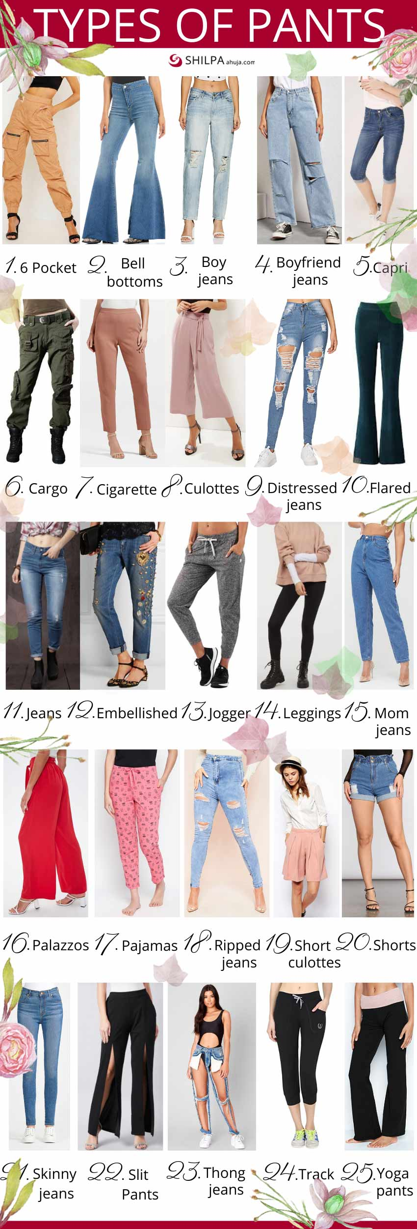 Different Types of Pants womens ladies Trousers