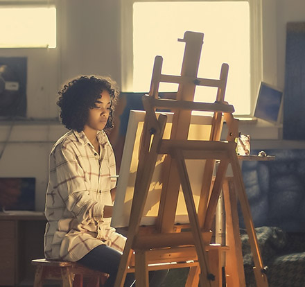 artist painter alone outlook to future introvert personality
