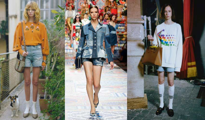 denim-shorts-trends-dolce-gucci-latest-spring-jeans-trends