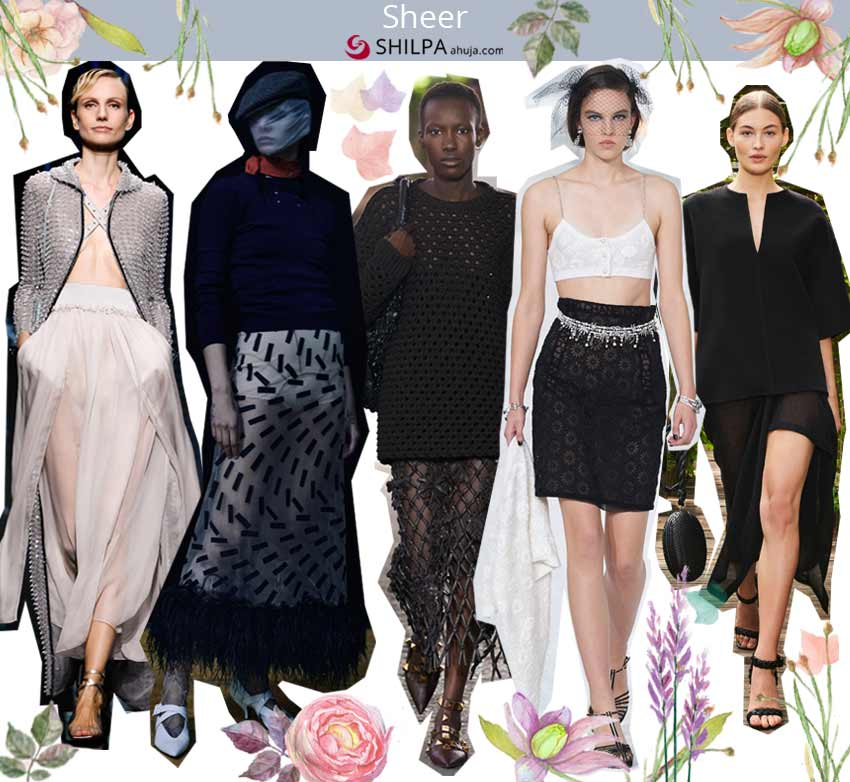 hottest skirt trends spring summer 2021 ss21 Sheer