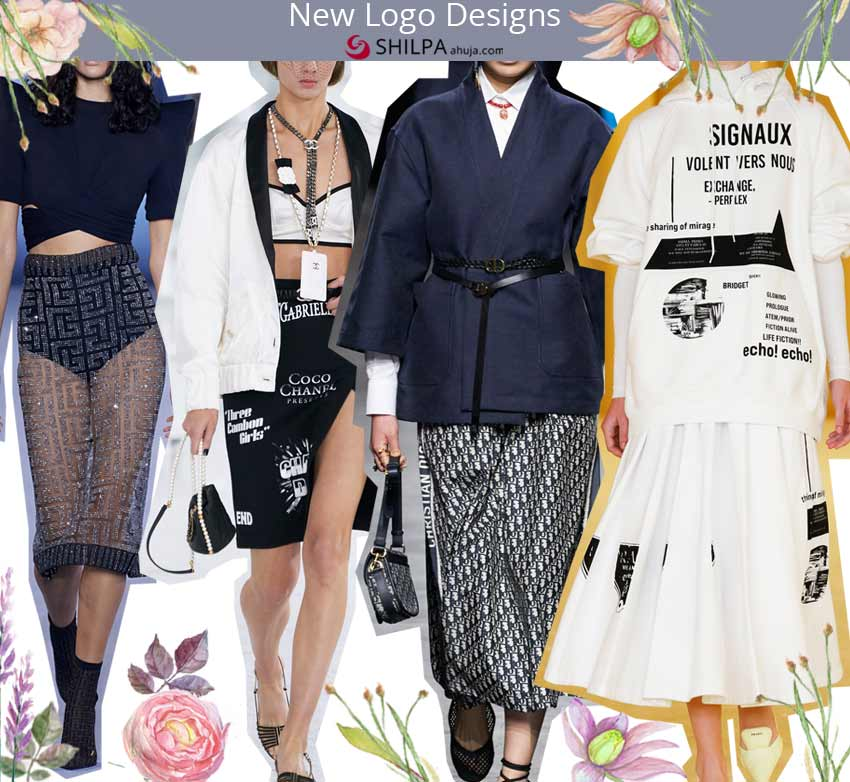 latest skirt trends spring summer 2021 ss21 designer Logo
