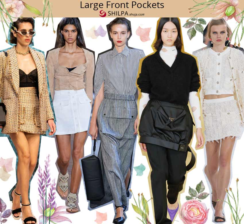 top skirt trending designs spring 2021 Large-Front-Pockets