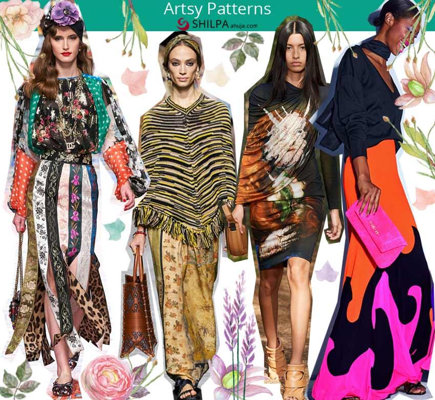 trending skirt styles prints spring 2021 art