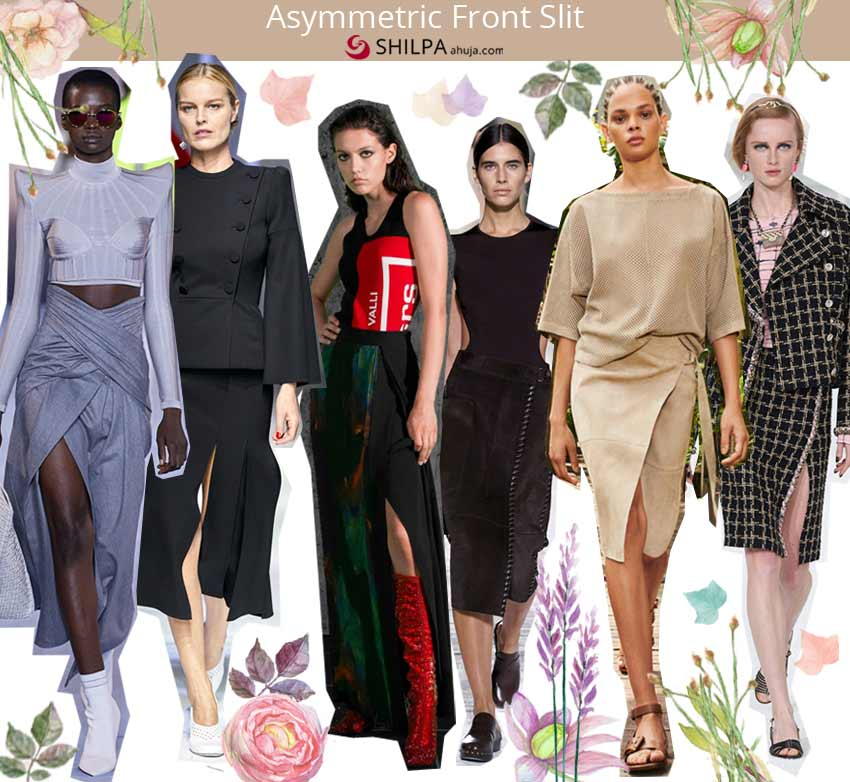 trendy skirts spring summer 2021 ss21 Asymmetric-Front-Slit