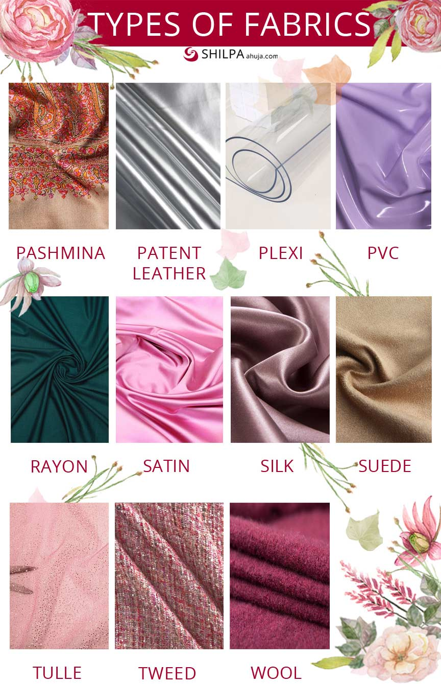 different-types of fabric fashion-words-glossary-dictionary-terms-infographic
