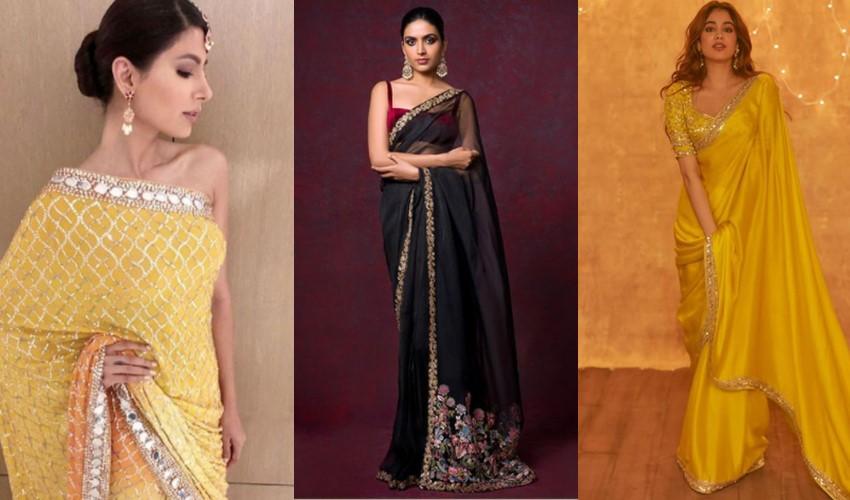 thin-borders-suneet-verma-shyamal-bhumika-manish-malhotra-saree-trends-2021
