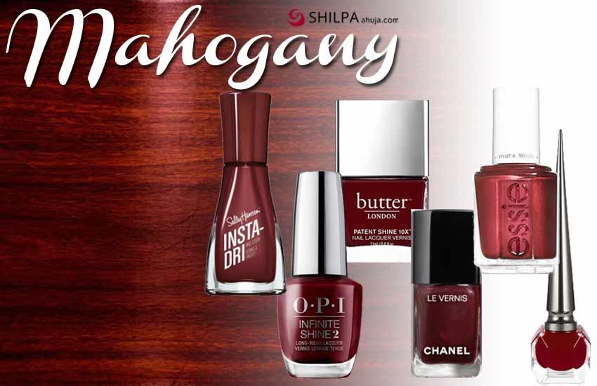 top nail polish colors for 2021 mahogany